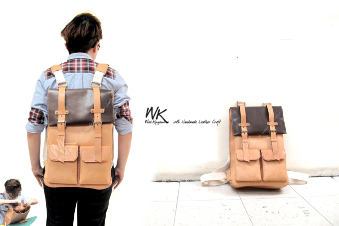 wk leather workshop backpack